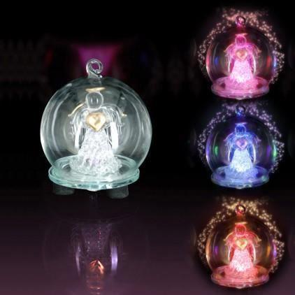 Boule en verre avec ange lumineux LED   Achat / Vente boule de