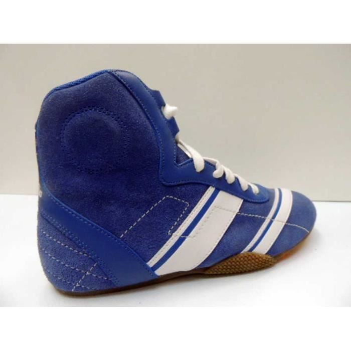 Chaussure Femme Montante Boxing Buffalo Split Leather royal Blue White Pointure 37