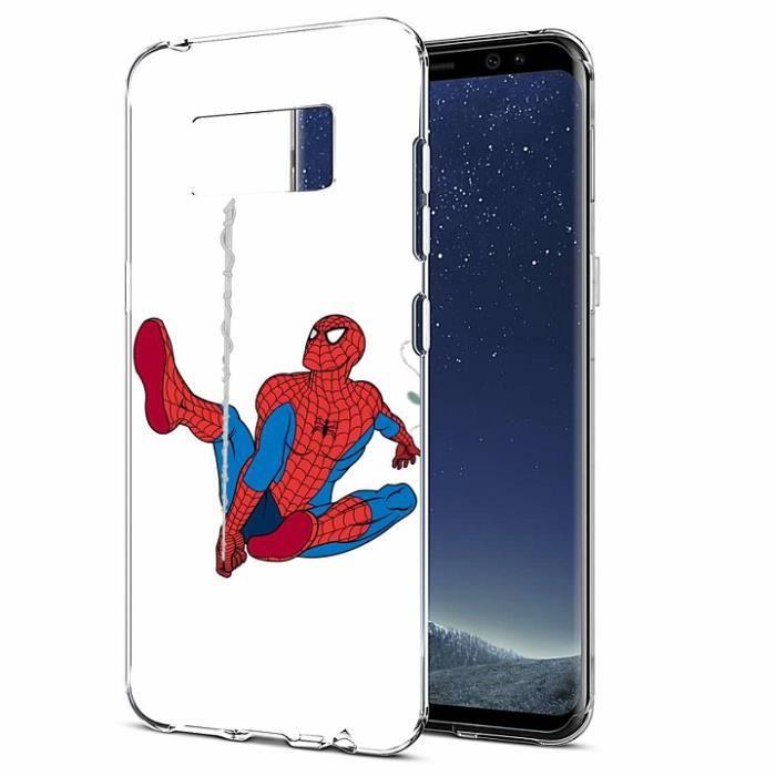 Coque Pour Huawei P8 Lite spider-Man Schéma Souple Premium TPU Gel ...
