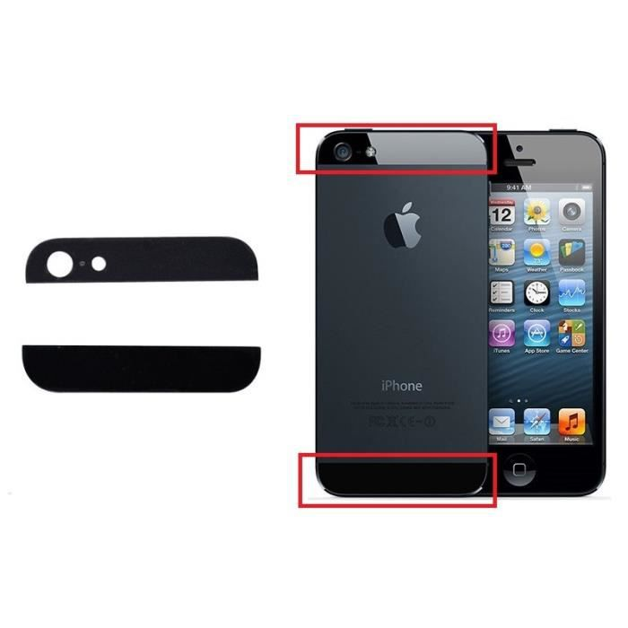 vitre arriere du haut et bas apple iphone 5 noir achat pi ce t l phone pas cher avis et. Black Bedroom Furniture Sets. Home Design Ideas