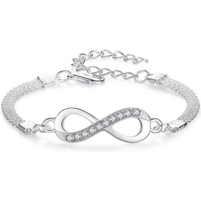 bracelet femme infini argent