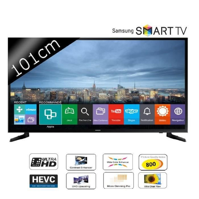 tv samsung ue40ju6000 4k 800 pqi smart t t l viseur led. Black Bedroom Furniture Sets. Home Design Ideas