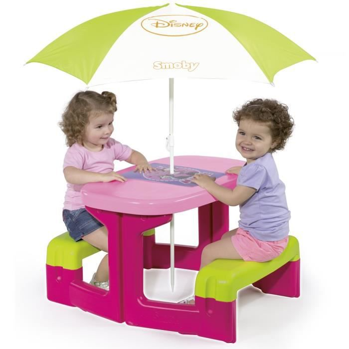 minnie table de pic nic parasol achat vente table de pique nique cdiscount. Black Bedroom Furniture Sets. Home Design Ideas