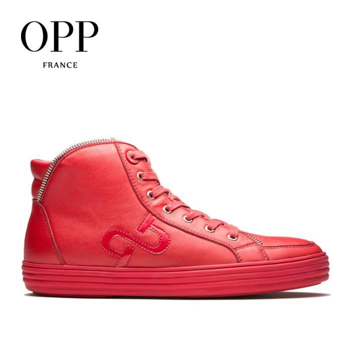 OPP Hommes Cuir Chaussures Botte OC173152rouge45