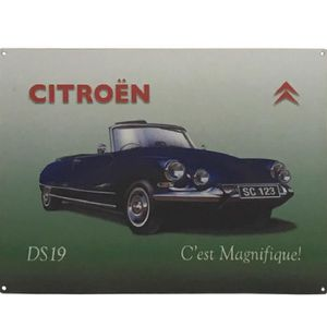 plaque metal citroen achat vente plaque metal citroen pas cher cdiscount. Black Bedroom Furniture Sets. Home Design Ideas