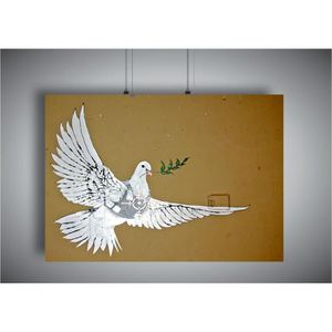 AFFICHE - POSTER Poster BANKSY DOVE COLOMBE STREET ART GRAFFITI Wal