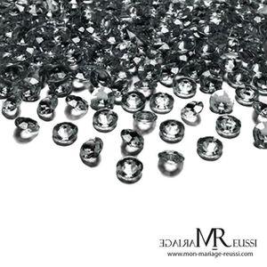 décoration de table mariage 10mm ***100 GROS DIAMANTS  CONFETTIS  1cm***