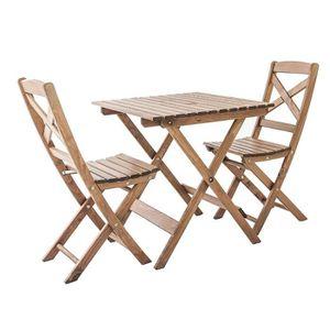 SALON DE JARDIN  Ambientehome Ensemble de mobilier de Jardin ou de