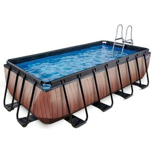 PISCINE EXIT Wood, Piscine hors sol, Rectangle, 7020 L, Ma