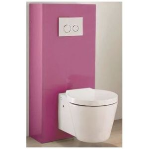 meuble d 39 habillage wc suspendu fuschia pour duo achat vente colonne armoire wc meuble d. Black Bedroom Furniture Sets. Home Design Ideas