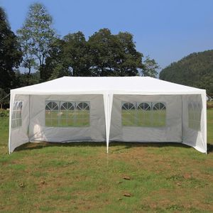 TONNELLE - BARNUM Tente De Réception 3x6 M Chapiteau BLANC LESHP