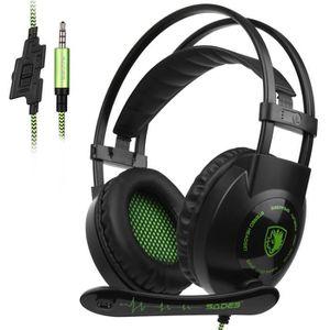 CASQUE AVEC MICROPHONE SADES SA801 Casque Gamer pour PS4 Xbox One Nintend