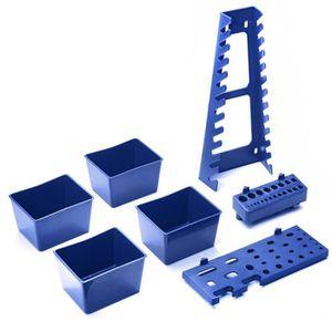 BOITE DE RANGEMENT Lot de 7 accessoires et boites en plastique pour p