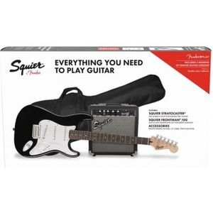 BASSE Squier - Pack Squier Stratocaster black - Pack gui