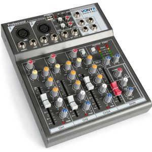 TABLE DE MIXAGE Vonyx VMM-K402 Table de mixage DJ  live 4 canaux a