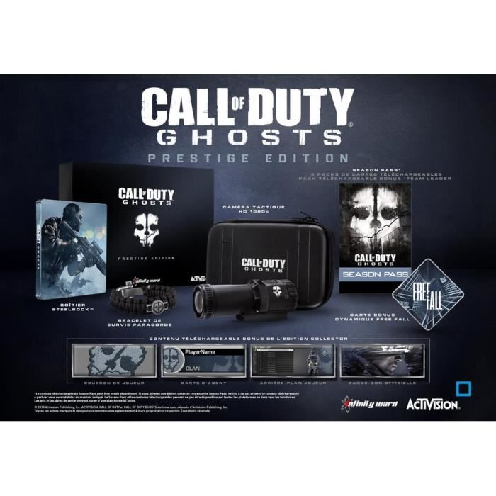JEU PS3 Call Of Duty Ghosts Prestige Jeu PS3