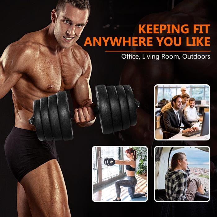 Kit Haltères ajustable - 30kg - Haltères Musculation