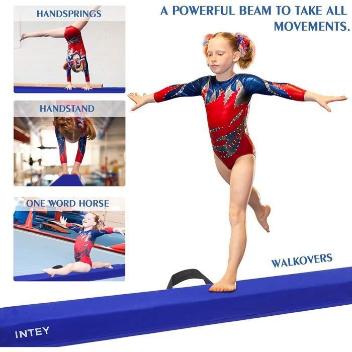 Poutre de gymnastique, poutre d'équilibre pliable antidérapante avec poignées pour le transport portable