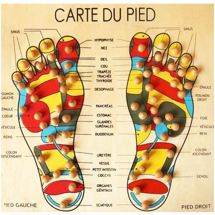Accessoires de massage manuel Planche Bois Carte du Pied Massage Réflexologie-Acupression 179146