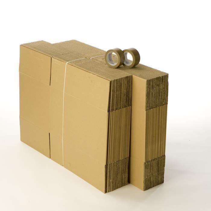 Kit déménagement 40 cartons et 2 adhésifs inclus