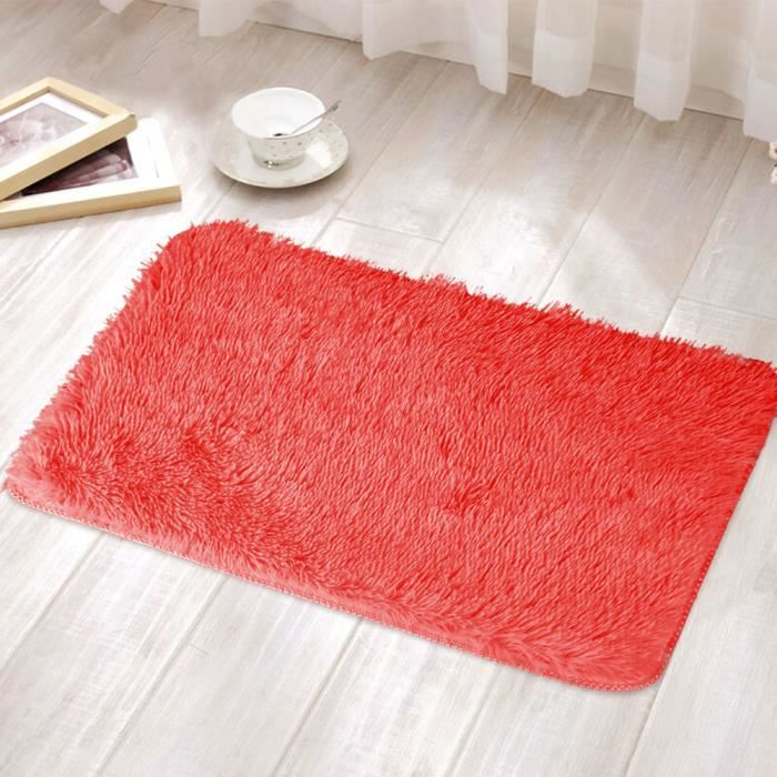 Fluffy Rugs Area Rug Bright Multicolore 40x30cm Chambre au sol