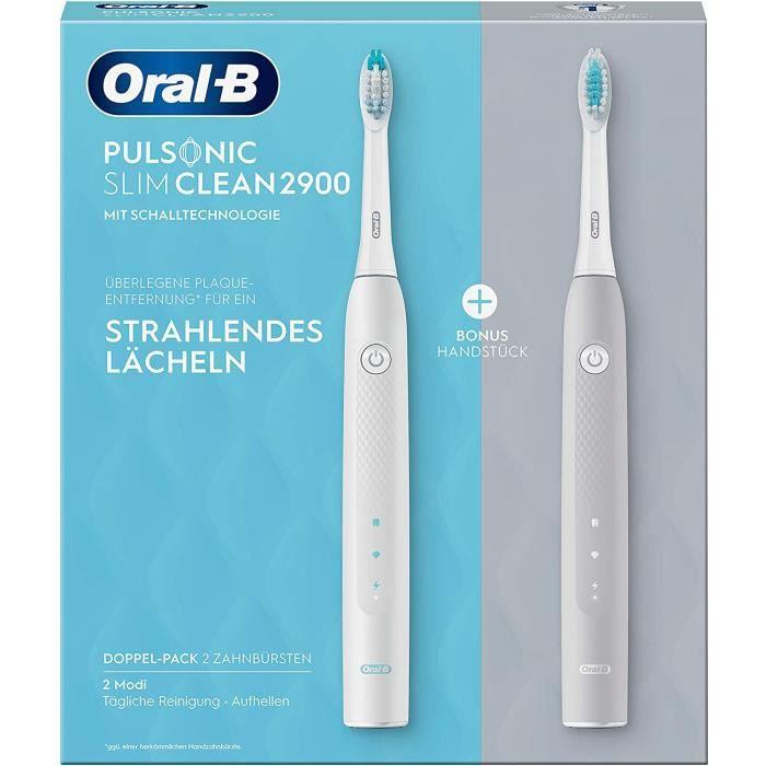 Oral-B Pulsonic Slim Clean 2900 Lot de 2 brosses &agrave dents &eacutelectriques, brosse &agrave dents sonique pour un nettoy173