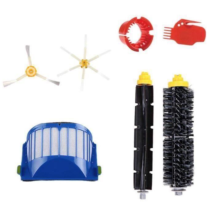 pour accessoires de remplacement d'aspirateur iRobot Roomba serie 600, - 1 filtre, 1 brosse a poils, 1 brosse a batteur flex An06526