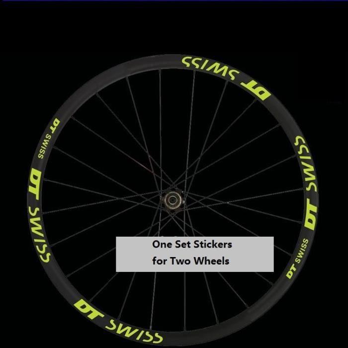 Accessoire vélo,Ensemble d'autocollants à deux roues pour DT Swisss VTT jante de vélo - Type 26er Deep Blue
