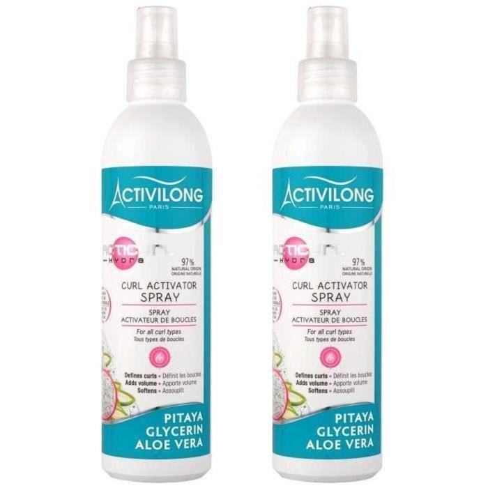 ACTIVILONG Spray activateur de boucles Acticurl Hydra - Pitaya, glycerine et aloe vera - 250 ml (Lot de 2)
