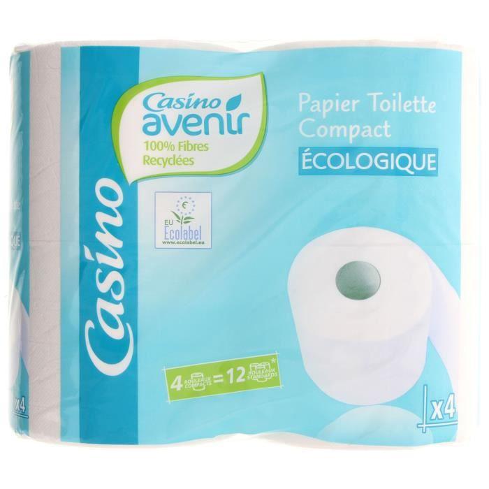 CASINO Papier hygiénique compact Ecologique 4=12