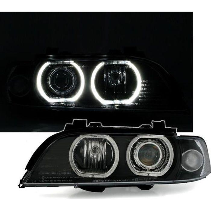 2 FEUX PHARE AVANT ANGEL EYES LED D2S XENON BMW SERIE 5 E39 DE 09/95 A 08/2000