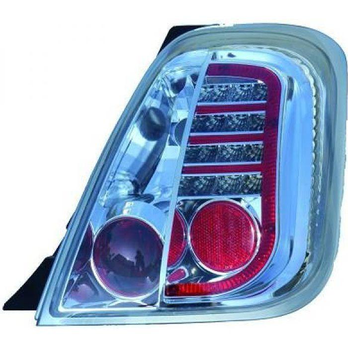Kit de feux arrières version LED chrome FIAT 500 + ABARTH de 07 à >> - 3405995