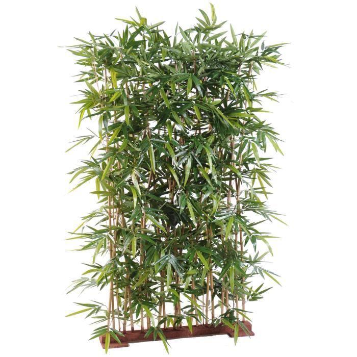 Plante artificielle haute gamme Spécial extérieur- Haie artificielle Bambou, coloris vert - Dim : 150 x 50 x 130 cm