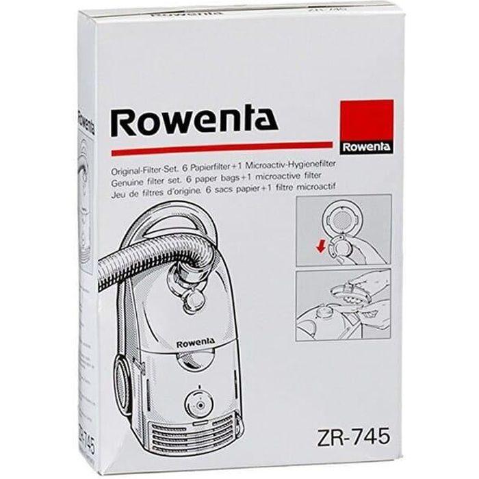 Sacs aspirateur zr745 par 6 + filtre pour Aspirateur Rowenta - 3665392374275