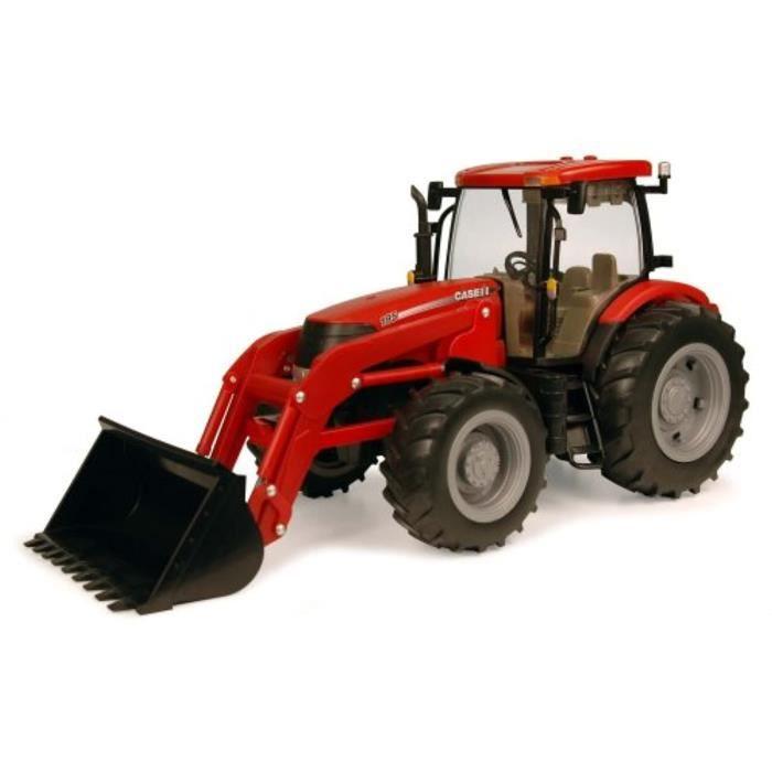 Voiture Electrique TOMY I6U5D Tracteur Case Ih Puma 195 Big Farm 1:16 avec charge