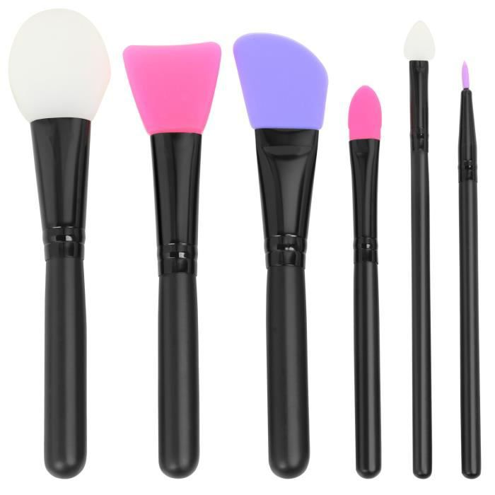 Trixes Set Of 6 Silicone Make Up Brushes Easy Clean For Face Mask Application