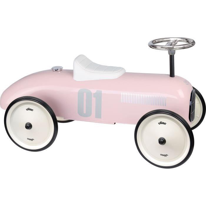 Porteur voiture vintage rose tendre Coloris Unique
