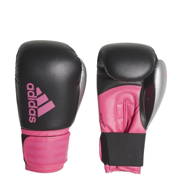 Gants adidas de boxe Hybrid 100 - noir/rose flash - 10oz
