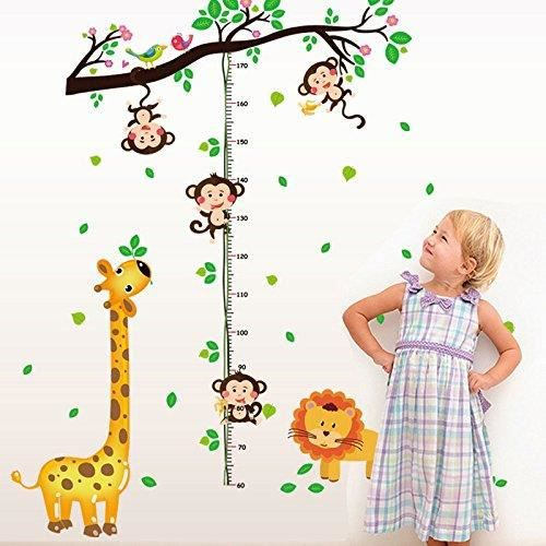Chambre enfant la fresque mur tatouage avec zoo Jungle Girafe à la fenêtre