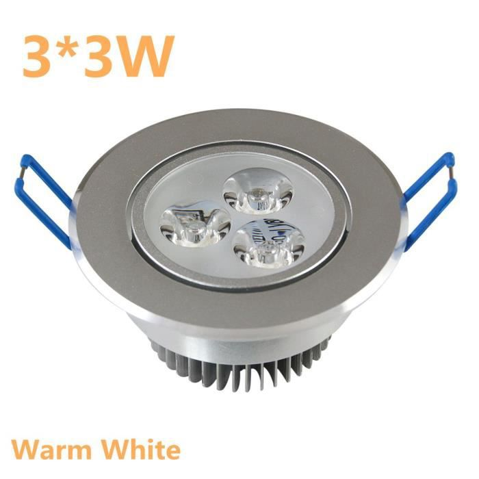 9w plafond downlight encastr lampe led encastr cabinet mur ampoule 220v pour l 39 clairage la. Black Bedroom Furniture Sets. Home Design Ideas