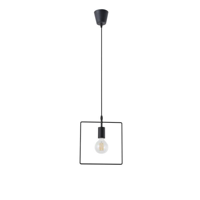 LUSTRE ET SUSPENSION SQUARE Suspension filaire carrée - Métal - L 25 x