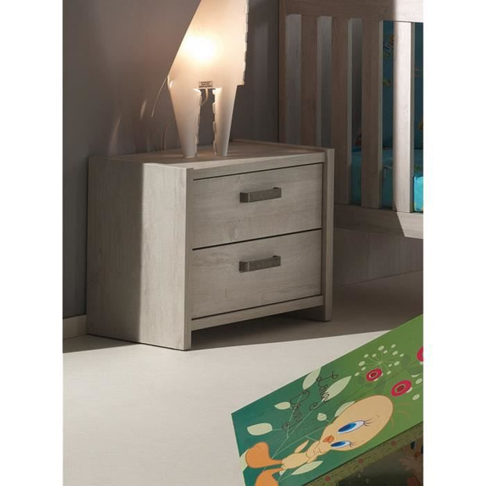 chevet chambre b b coloris ch ne norv gien achat vente chevet chevet chambre b b coloris. Black Bedroom Furniture Sets. Home Design Ideas