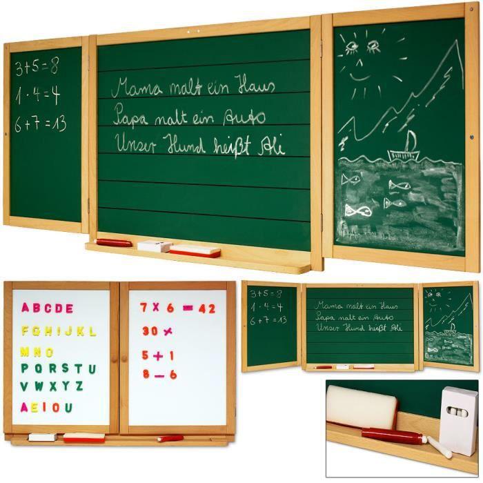 Grand Tableau à Craie Et Magnétique Mural Enfants Achat Vente Tableau Enfant Cdiscount