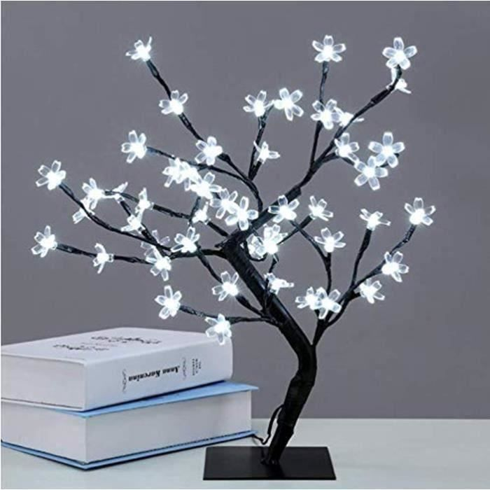 VINGO LED Arbre Fleur de Cerisier 150cm|Blanc|Arbre Lumineux de d/écoration de No/ël 160 LED IP44 pour Base m/étallique int/érieure et ext/érieure Stable