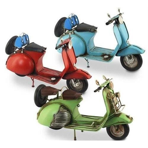 Figurine metalique moto vespa 1 unit 30 cm achat for Vespa decoracion
