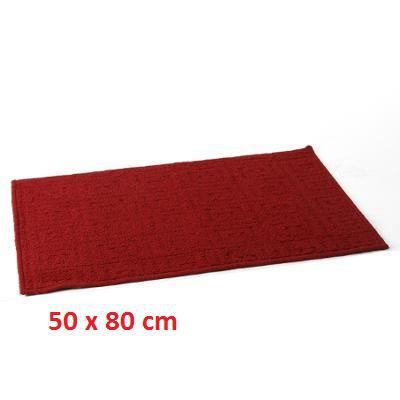 tapis motif 50x80 rouge achat vente tapis cdiscount. Black Bedroom Furniture Sets. Home Design Ideas