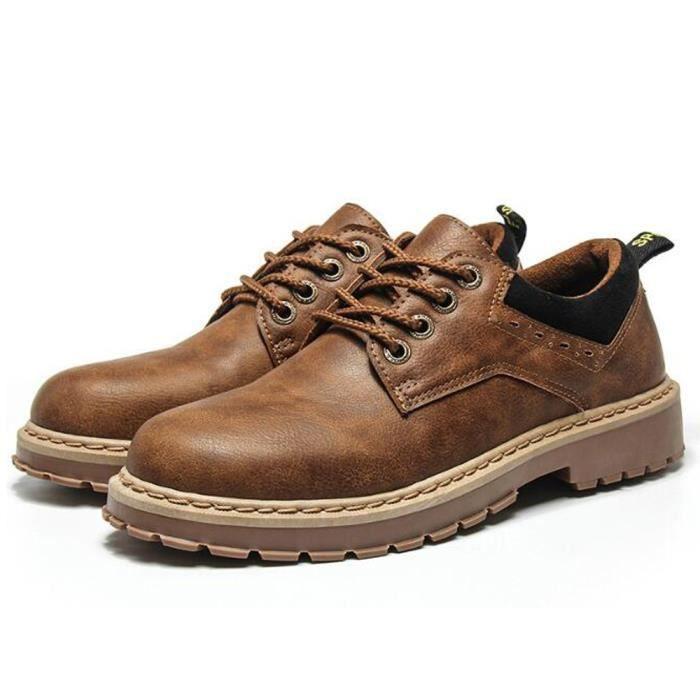 40 et 42 Bottines Boots Chaussures Homme Montantes Marron Randonnée Travail