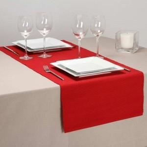 Chemin de table rouge 40x150cm paris prix achat for Chemin de table rouge