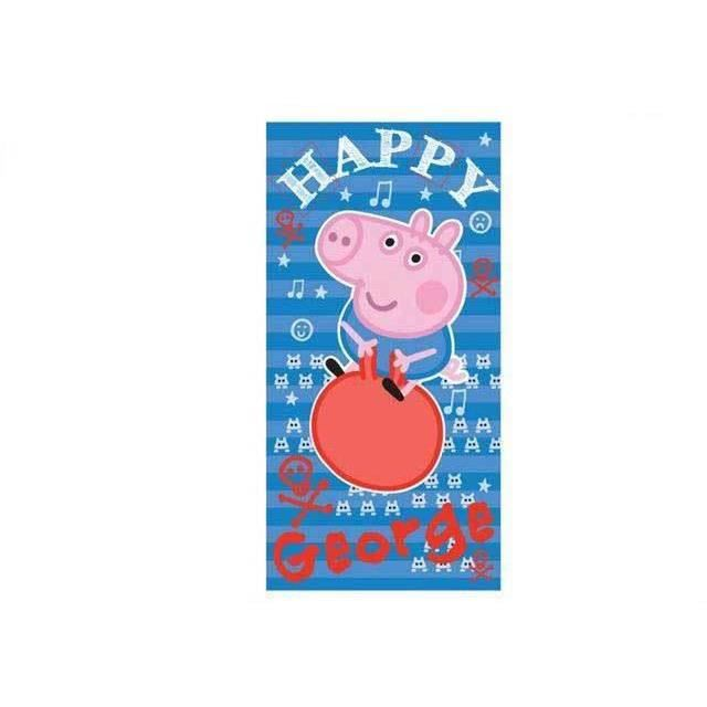 serviette de bain peppa pig george drap de plage enfants. Black Bedroom Furniture Sets. Home Design Ideas