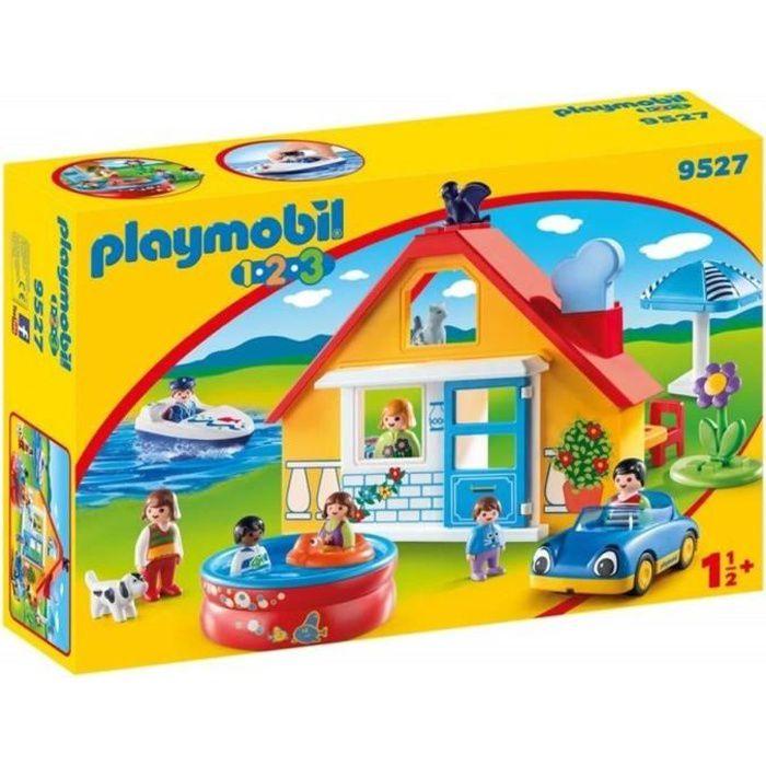 UNIVERS MINIATURE PLAYMOBIL 9527 - PLAYMOBIL 1 2 3 - Maison de vacan